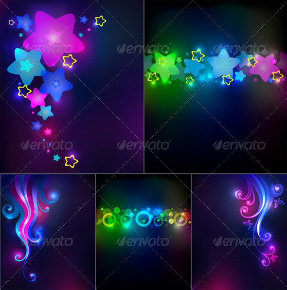 Abstract glowing backgrounds - Backgrounds Decorative