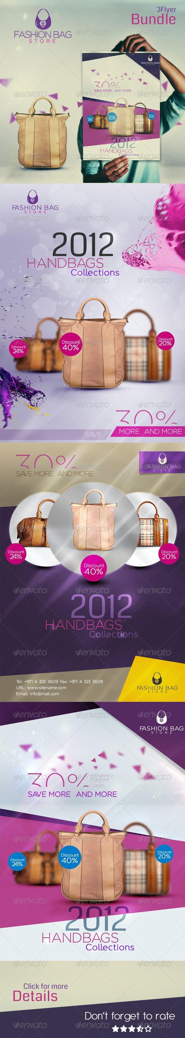 Fashion Bag   3 Unique Flayer - Commerce Flyers