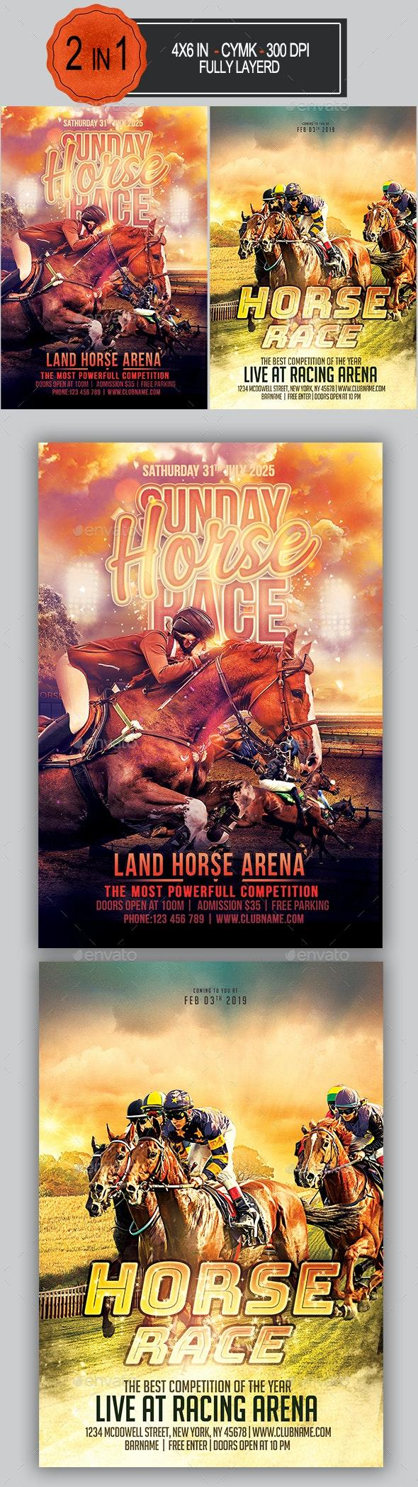 Horse Race Flyer Bundle - Sports Events