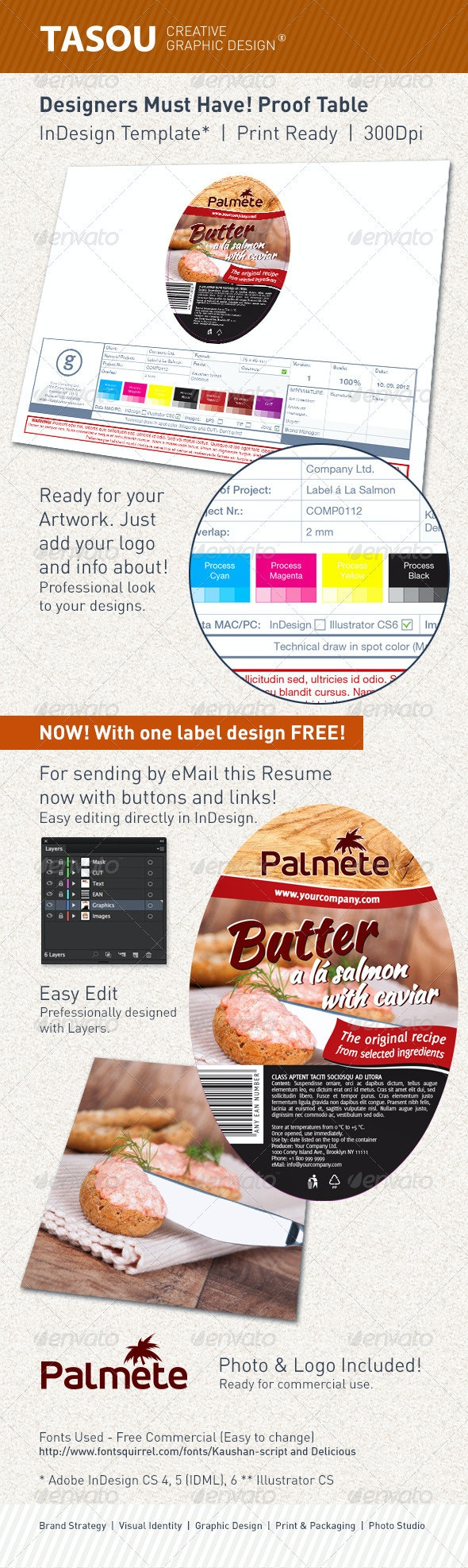 Designers Must Have. Proof Table. Label design. - Miscellaneous Backgrounds