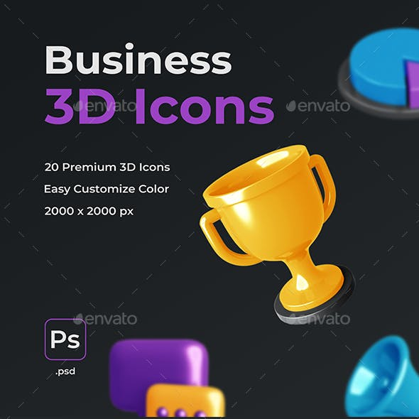Business 3D Icons