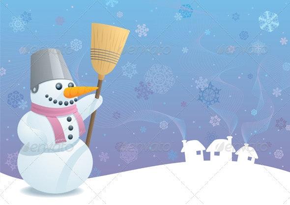 Snowman Background - Characters Vectors