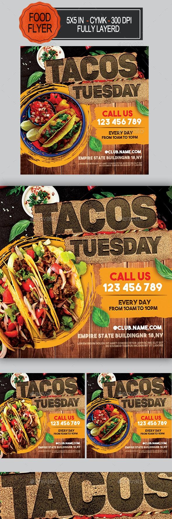 Tacos Food Flyer - Restaurant Flyers