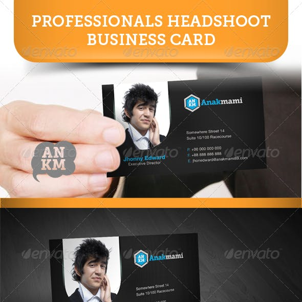 Professionals Headshoot Business Card