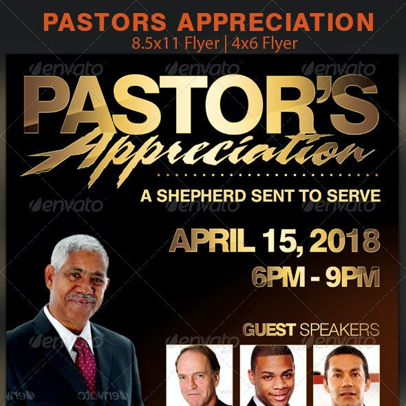 Pastors Appreciation Church Flyer Template