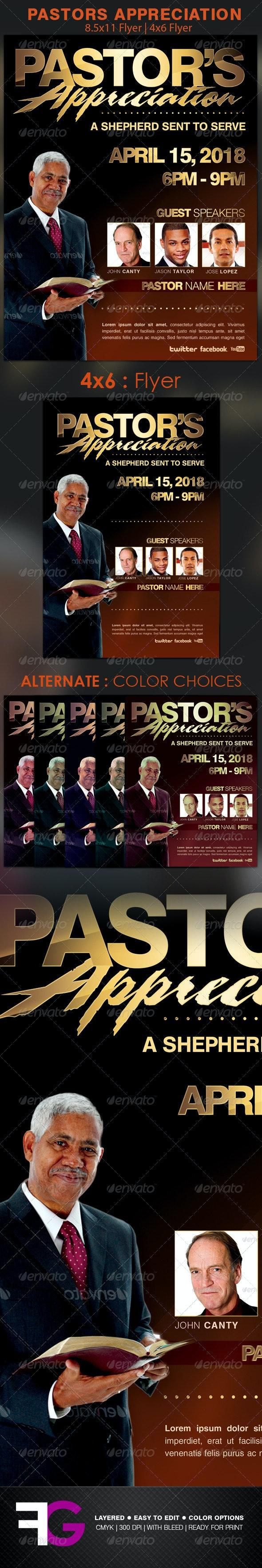 Pastors Appreciation Church Flyer Template - Church Flyers