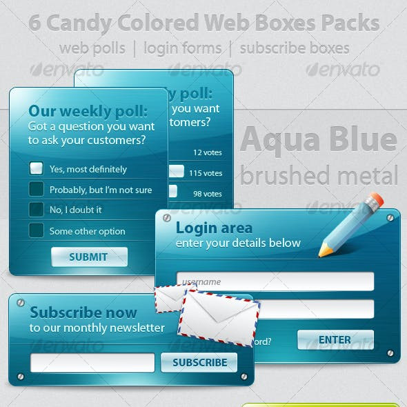 6 Web Polls and Forms Deliciously Colored