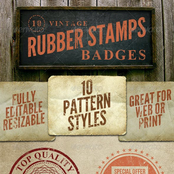 10 Rubber Stamps
