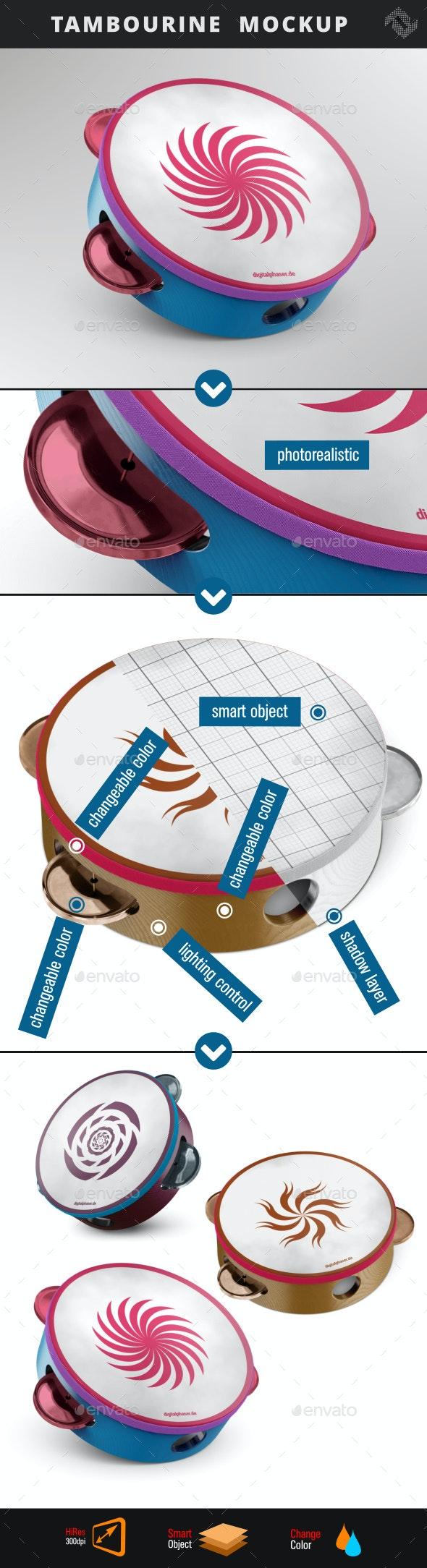 Tambourine Mockup - Product Mock-Ups Graphics