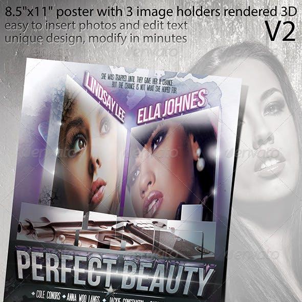 Poster Design with 3D Rendered Image Holders V2