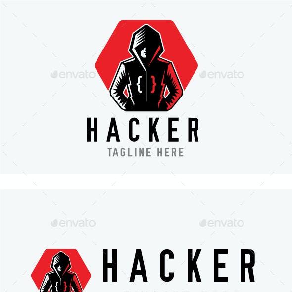 Hacker Man Logo Design Template