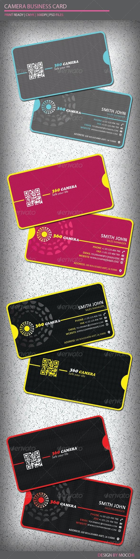 Camera Business Card - Creative Business Cards