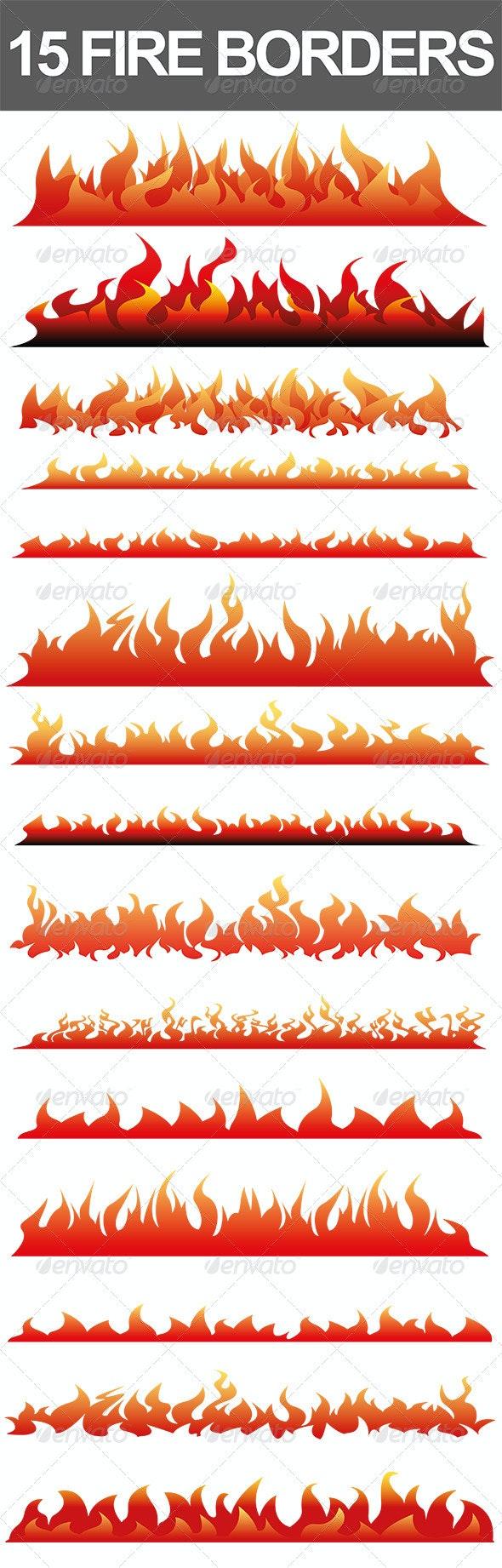 15 Fire Borders - Borders Decorative