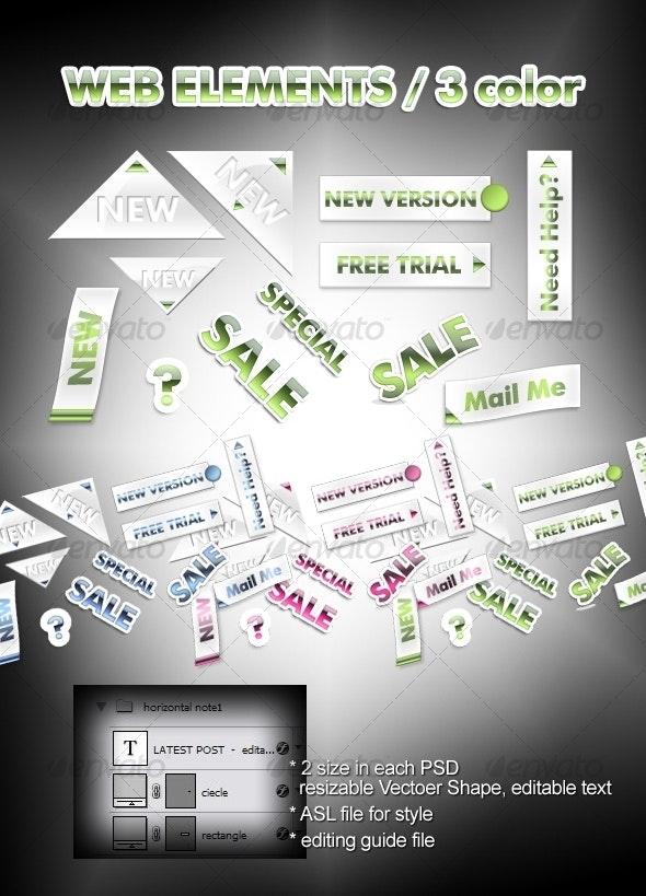 web elements - Miscellaneous Web Elements