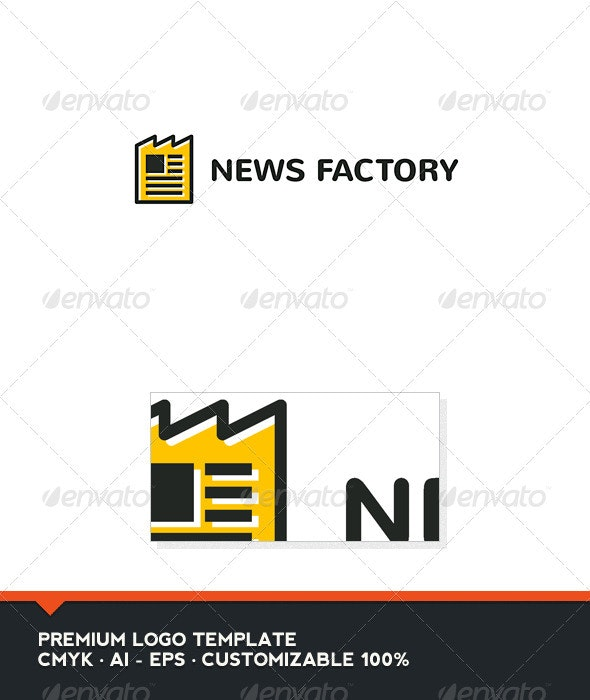 News Factory Logo Template - Objects Logo Templates