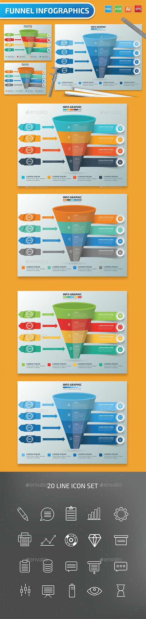 Funnel Infographic Design - Infographics
