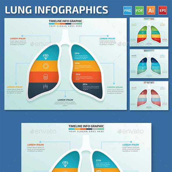Lung Infographics design