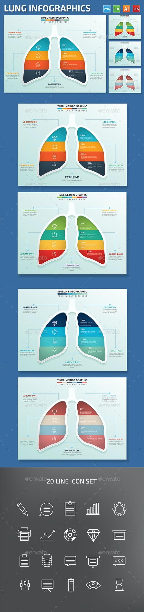 Lung Infographics design - Infographics
