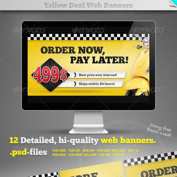 Yellow Deal Web Banners