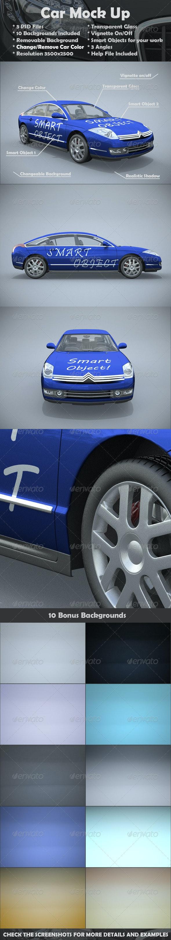 Citroen Car Mock-Up - Vehicle Wraps Print