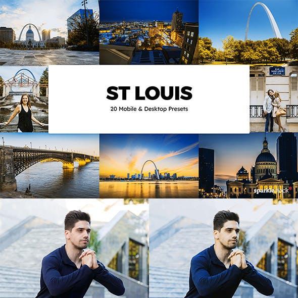 20 St Louis Lightroom Presets & LUTs