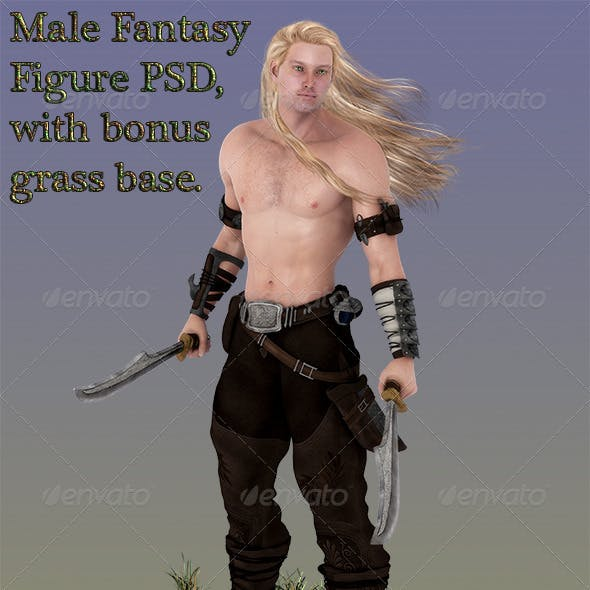 Fantasy Male Figure PSD