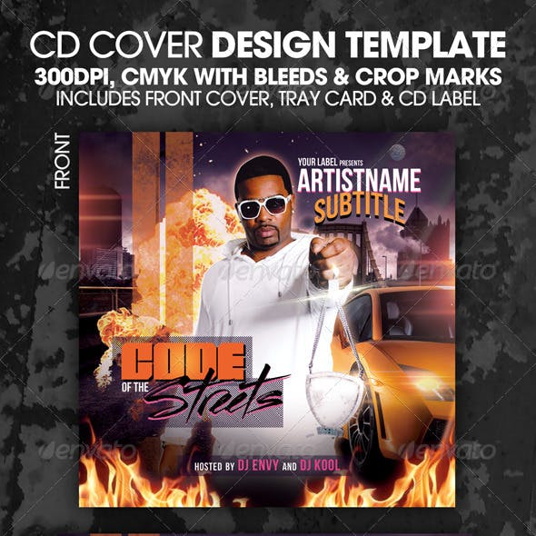 Code of The Streets CD Mixtape or Flyer Template