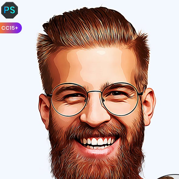 Vector V2 Painting Photoshop Action