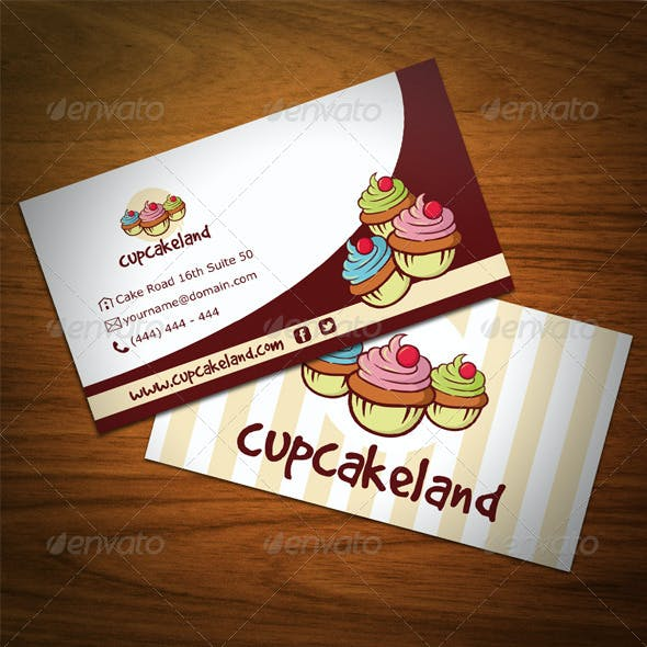 Cupcake Backery Business Card