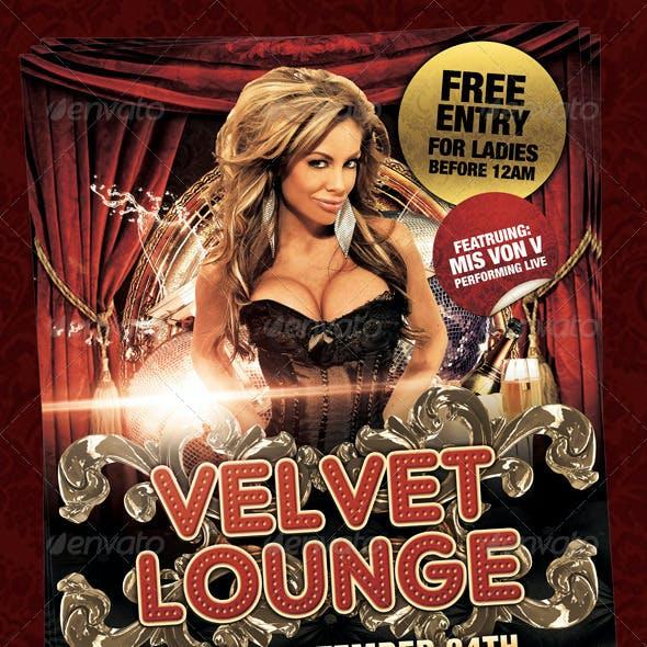 Velvet Lounge Poster or Flyer Template