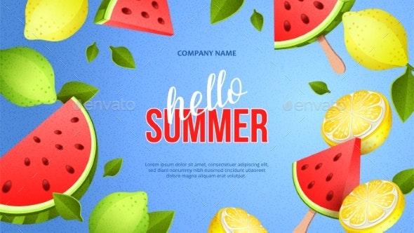 Summer Bright Banner - Seasons/Holidays Conceptual