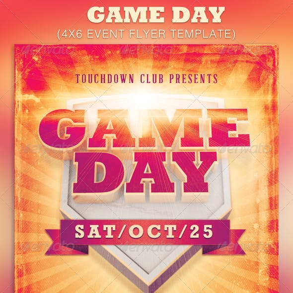 Game Day Event Flyer Template
