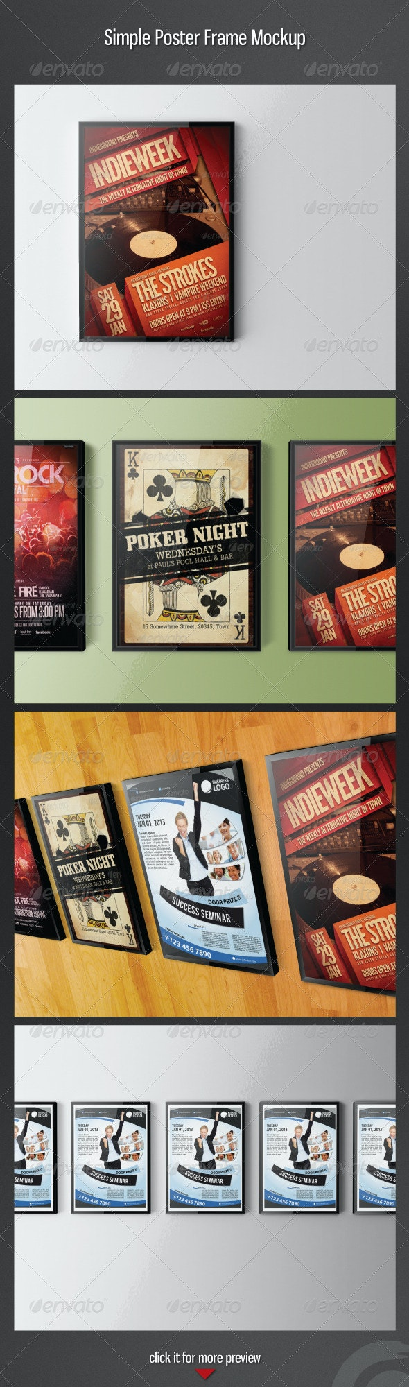 Simple Poster Frame Mockup - Posters Print