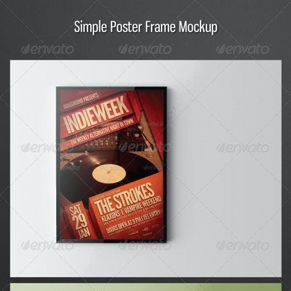 Simple Poster Frame Mockup