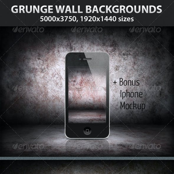 5 Grunge Wall Backgrounds
