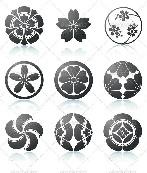 Floral elements  - Decorative Symbols Decorative
