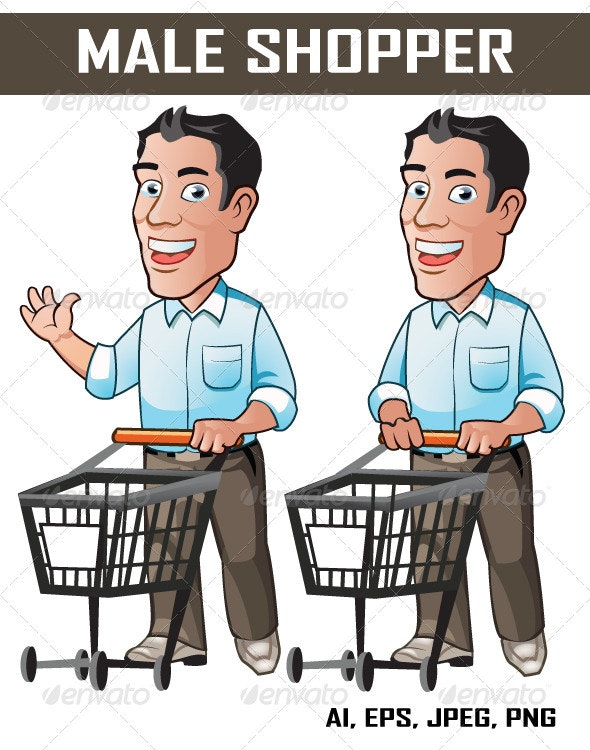 Male Shopper - People Characters