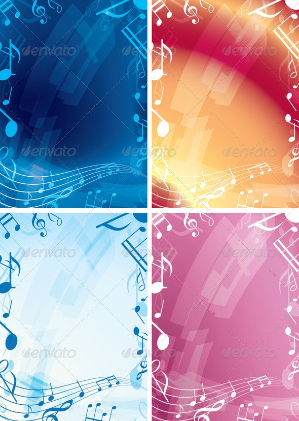 Abstract Music Backgrounds - Backgrounds Decorative