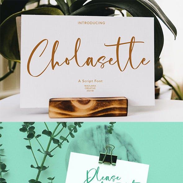 Cholasette Script Font