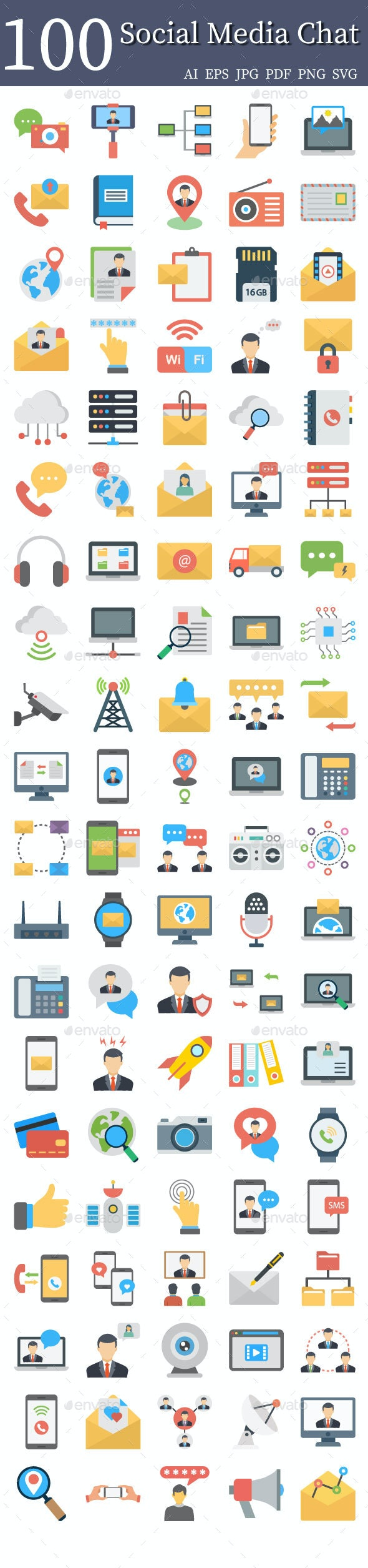 Social Media and Chat Icon Pack - Icons
