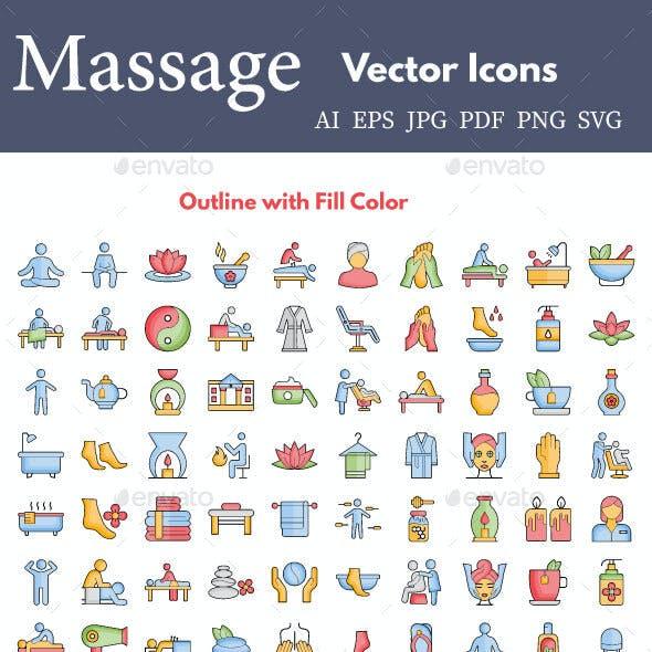 Massage Icon Pack