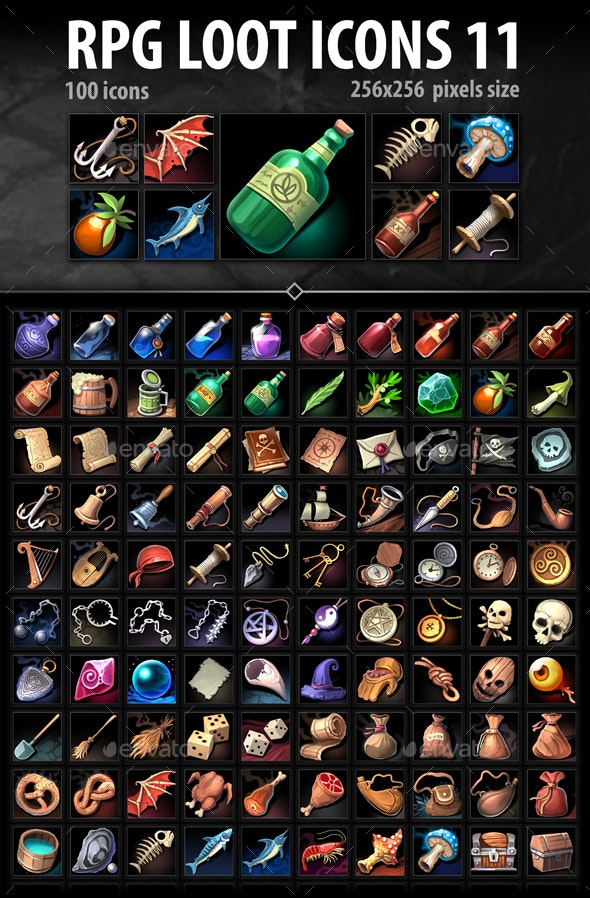 RPG Loot Icons 11 - Miscellaneous Game Assets
