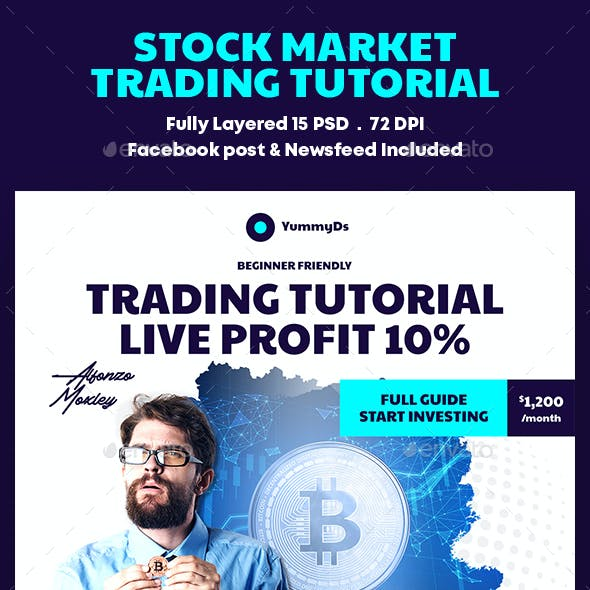 Stock Market Trading Tutorial Banners Ad