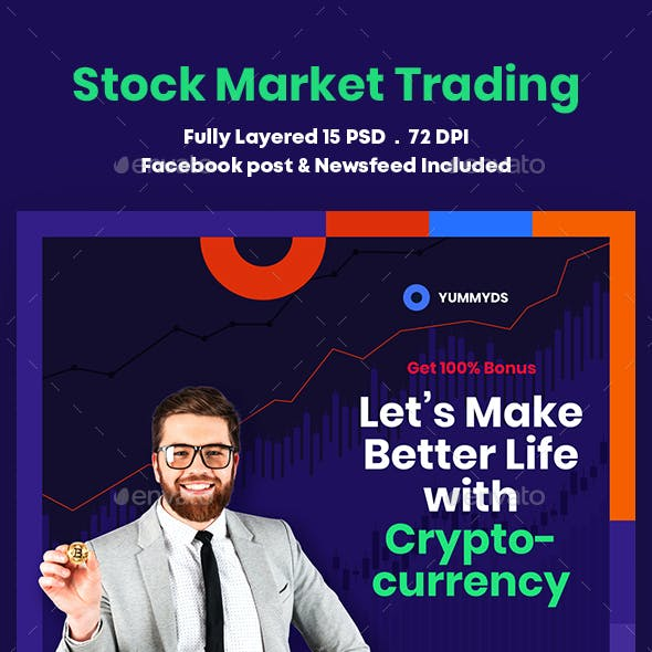 Stock Market Trading Banners Ad