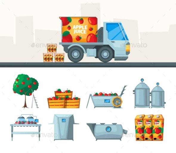 Juice Production - Miscellaneous Vectors