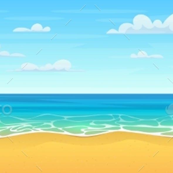 Cartoon Summer Beach