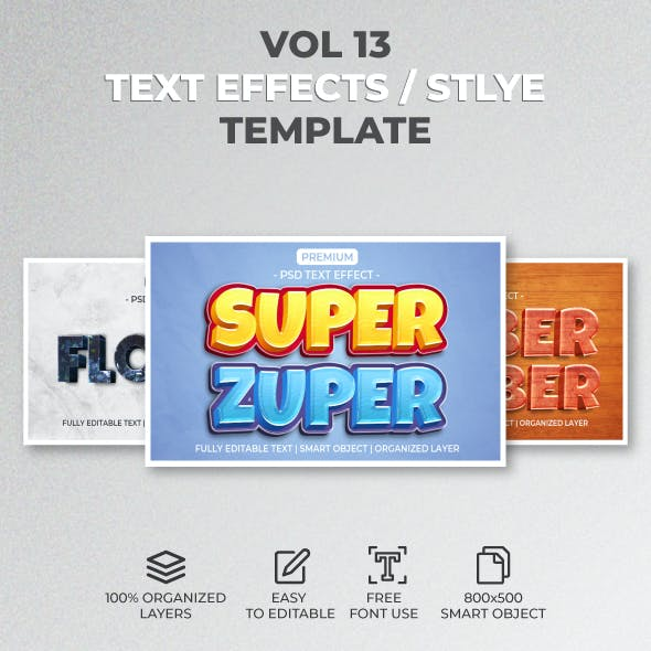 Text Effect Style Template Style Vol.13