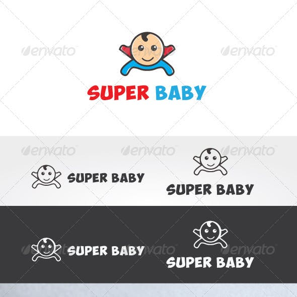 Super Baby Logo Template