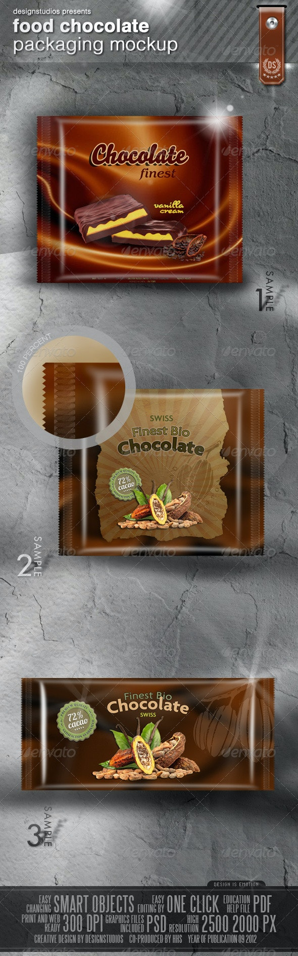 Food (Chocolate) Packaging Mock-Up - Food and Drink Packaging