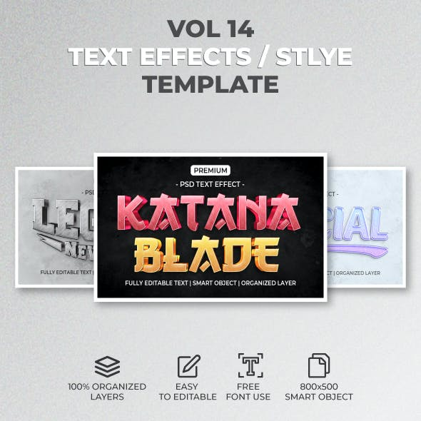 Text Effect Style Template Style Vol.14
